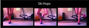 Ski hops, calf workout, calf exercises, lower leg workout