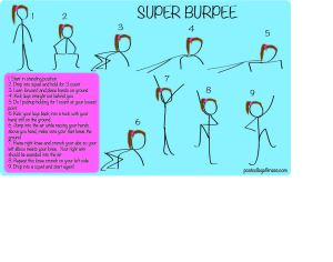 super burpee, full body workout, fully body workout move, burpee